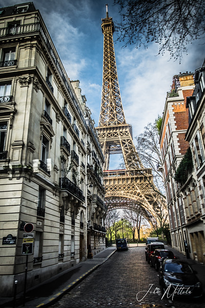 A different view of the Eiffel Tower