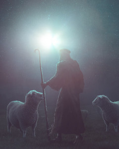 Shepherd on the first Christmas