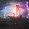 Man going through a storm