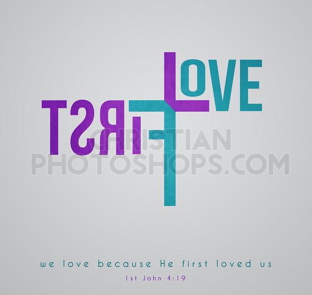 First love word art