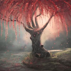 Cherry Blossom Digital Painting