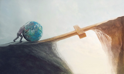 Pushing the world over the cross