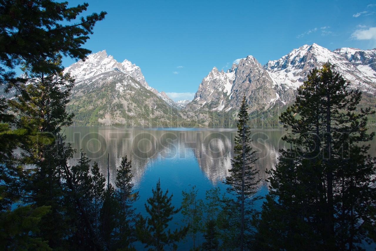 Jenny Lake with reflections