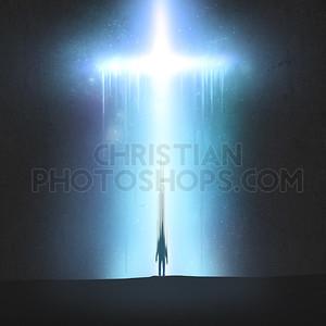 Man fading into cross