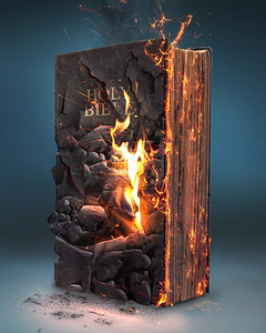 Bible and fire