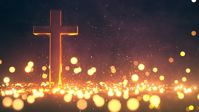 3D Cross Background