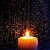Candle in rain