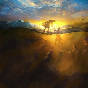 Jesus Rescues Peter