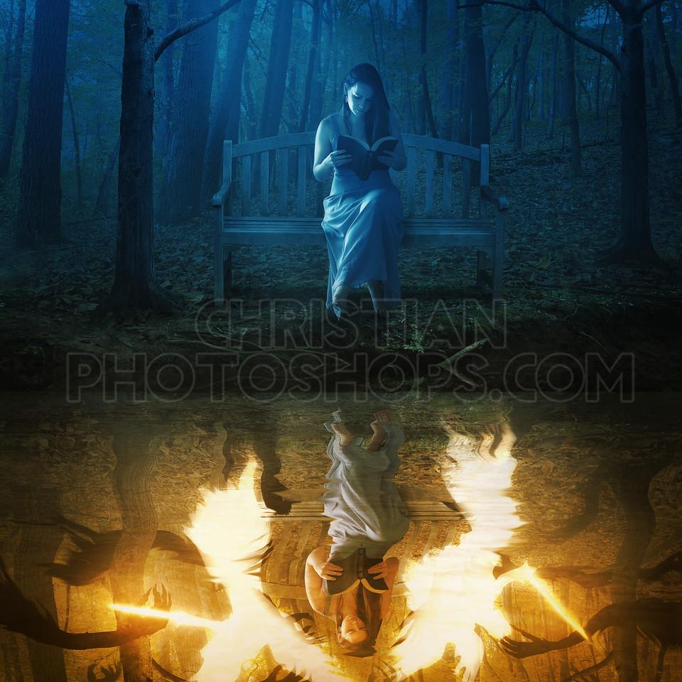 Battle between light and dark
