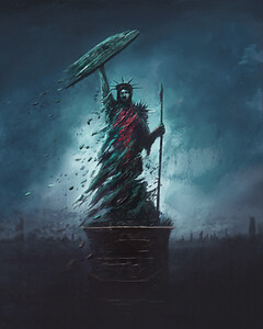 Wounded Statue of Liberty