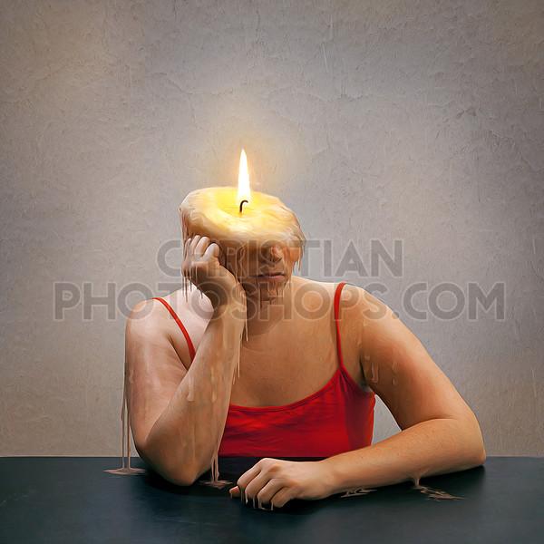 Burning like a candle