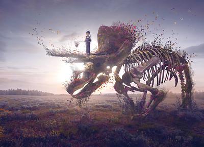 Surreal Dinosaur Bones