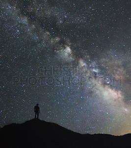 Man and the milky way