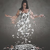 Woman breaking apart
