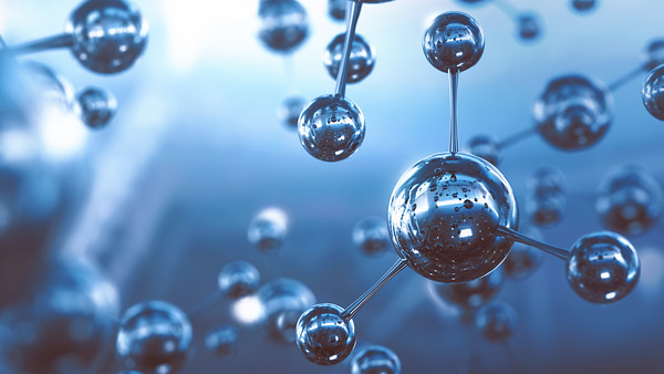 A group of molecules floating around.