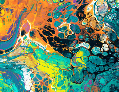 Colorful paint streaks