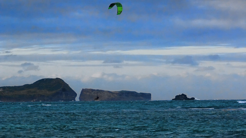 Click on the Image Above to Play the Video - Kitesurfing at Kailua Beach