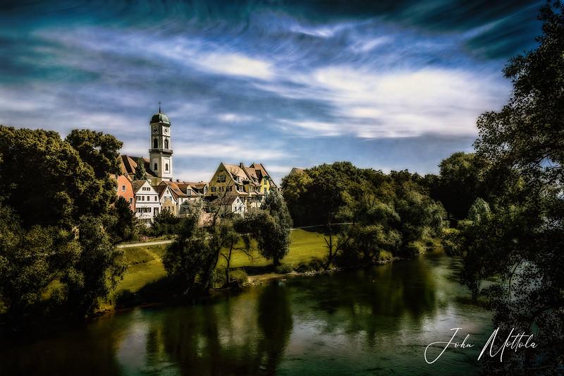 Beautiful morning in Regensburg, Germany