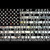 American flag with verse