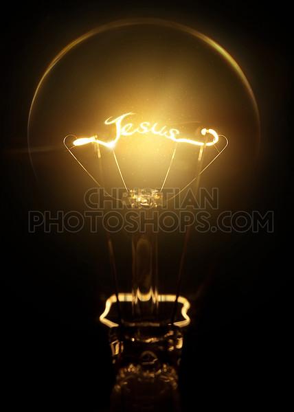Jesus light bulb