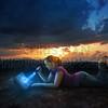 Reading Bible at night