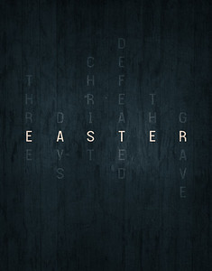 Easter word art