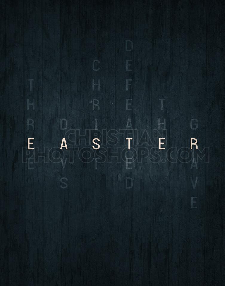 Easter word art