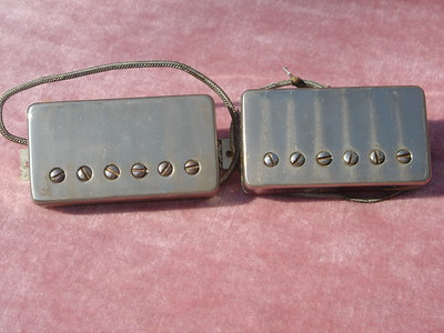 476- Matched set  PAF pickups unsoldered covers 1959 Les Paul junior harness***SOLD***