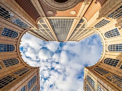 Look up at 500 Boylston St, Boston