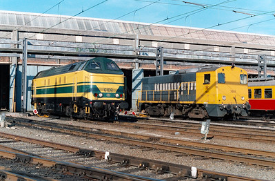 6106 at Schaarbeek Depot on 15th June 1996