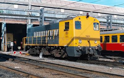 7601 at Schaarbeek Depot on 15th June 1996