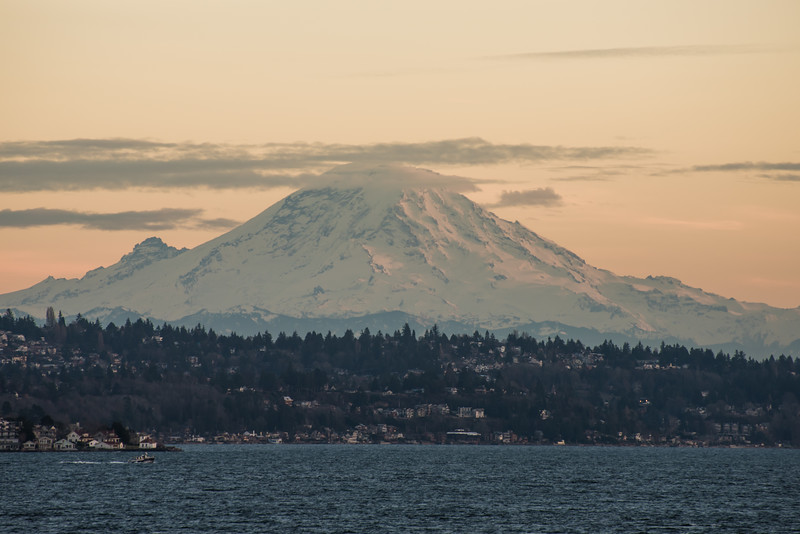 Mt Rainier from the Seattle to Bainbridge Ferry