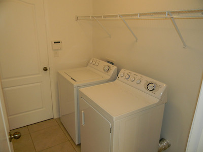 Laundry Room Has Brand New Washer And Dryer And Shelving!