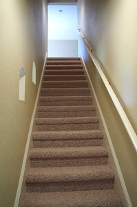 Stairs leading to bedrooms and upper sundeck