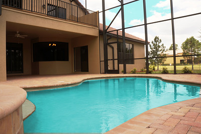 Pool, lanai and upper sundeck