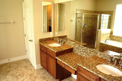 Master Bath granite counter-tops and dual sinks
