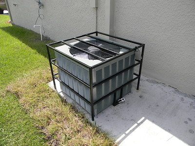 Security Cage On Outside A/C Unit