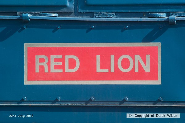 160723-006     Nameplate ( or name sticker) of class 08 no 08590 Red Lion.