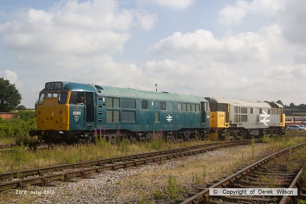 160723-016     A pair of Brush type 2's, class 31 no's 31162 (as 5580) & 31108, seen moving up the yard at Swanwick.
