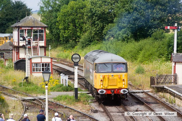 160723-040     UKRL class 56 no 56098 Lost Boys 68-88 sets off to hook up to 47401, to lead the 11.20 Swanwick Junction to Hammersmith.
