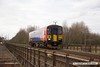 161203-017  East Midlands Trains class 153 unit no 153383 is captured crossing Averham Weir Viaduct with 2N35, The 11.36 Matlock to Newark Castle.