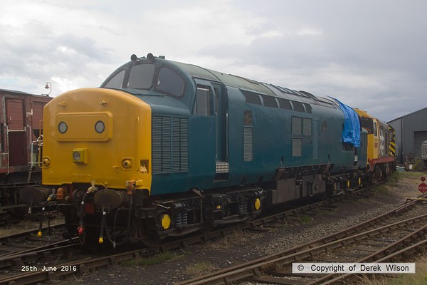 160625-049     Class 37 no 37207 sporting a coat of BR blue, minus any identification.  This dates back to December 1963 and is seen at Barrow Hill.