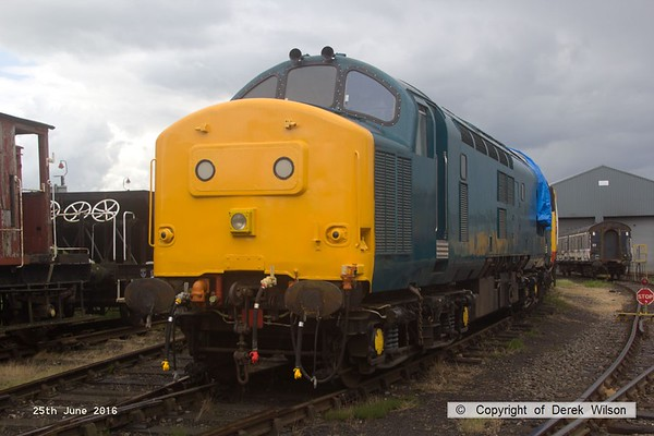 160625-025     Class 37 no 37207 sporting a coat of BR blue, minus any identification.  This dates back to December 1963 and is seen at Barrow Hill.