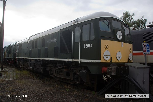 160625-011     BR type 2 no D5054 Phil Southern  at Barrow Hill. this became class 24 no 24054