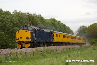 160520-016     Europhoenix class 37/6 no 37608 is seen leading test train 1Q78, 08.54 Derby RTC to Derby RTC as it passes Boughton Junction, on the High Marnham Test Track. Direct Rail Services class 37/6 no 37602 was bringing up the rear.