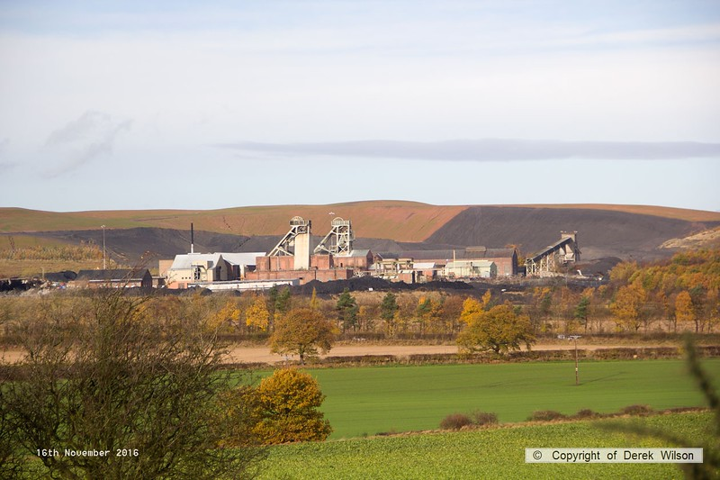 161116-031  A view of the former Thoresby Colliery, which is now being dismantled. Landscaping of the spoil heaps is progressing nicely. Once cleared the 25 acre site is earmarked for a housing development.