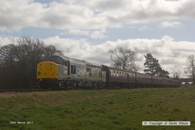170319-055  English Electric type 3, class 37 No 37714 Cardiff Canton passes Woodthorpe with the 12:00 Leicester North - Loughborough.