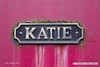 170226-016  Nameplate of Andrew Barclay 0-4-0ST, works No 2226 Katie at Cheddleton