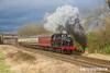 170128-060  LMS Jinty 3F 0-6-0T No 47406 passes Woodthorpe in dramatic fashion, powering the 13:30 Loughborough - Quorn.