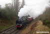 170128-019  BR Britannia 4-6-2 No 70013 Oliver Cromwell passes Charnwood with the TPO set (Travelling Post Office).